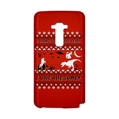 I Wasn t Good This Year, I Was Awesome! Ugly Holiday Christmas Red Background LG G Flex