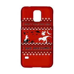 I Wasn t Good This Year, I Was Awesome! Ugly Holiday Christmas Red Background Samsung Galaxy S5 Hardshell Case