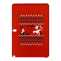 I Wasn t Good This Year, I Was Awesome! Ugly Holiday Christmas Red Background Samsung Galaxy Tab Pro 10.1 Hardshell Case