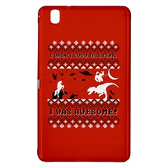 I Wasn t Good This Year, I Was Awesome! Ugly Holiday Christmas Red Background Samsung Galaxy Tab Pro 8 4 Hardshell Case
