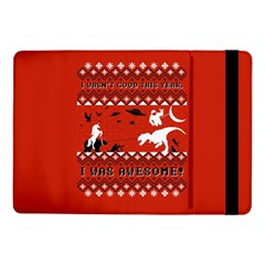 I Wasn t Good This Year, I Was Awesome! Ugly Holiday Christmas Red Background Samsung Galaxy Tab Pro 10.1  Flip Case