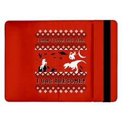 I Wasn t Good This Year, I Was Awesome! Ugly Holiday Christmas Red Background Samsung Galaxy Tab Pro 12.2  Flip Case