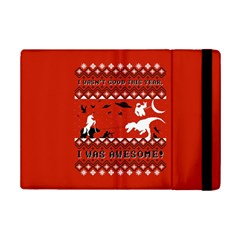 I Wasn t Good This Year, I Was Awesome! Ugly Holiday Christmas Red Background iPad Mini 2 Flip Cases