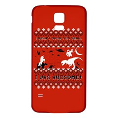 I Wasn t Good This Year, I Was Awesome! Ugly Holiday Christmas Red Background Samsung Galaxy S5 Back Case (white)