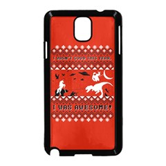 I Wasn t Good This Year, I Was Awesome! Ugly Holiday Christmas Red Background Samsung Galaxy Note 3 Neo Hardshell Case (black)