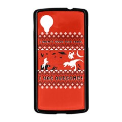 I Wasn t Good This Year, I Was Awesome! Ugly Holiday Christmas Red Background Nexus 5 Case (Black)