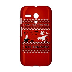 I Wasn t Good This Year, I Was Awesome! Ugly Holiday Christmas Red Background Motorola Moto G