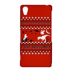 I Wasn t Good This Year, I Was Awesome! Ugly Holiday Christmas Red Background Sony Xperia Z2