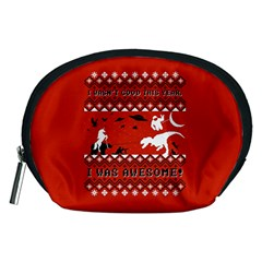 I Wasn t Good This Year, I Was Awesome! Ugly Holiday Christmas Red Background Accessory Pouches (Medium)