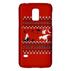 I Wasn t Good This Year, I Was Awesome! Ugly Holiday Christmas Red Background Galaxy S5 Mini