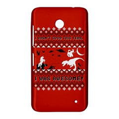 I Wasn t Good This Year, I Was Awesome! Ugly Holiday Christmas Red Background Nokia Lumia 630