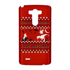 I Wasn t Good This Year, I Was Awesome! Ugly Holiday Christmas Red Background LG G3 Hardshell Case