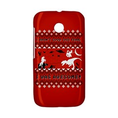 I Wasn t Good This Year, I Was Awesome! Ugly Holiday Christmas Red Background Motorola Moto E