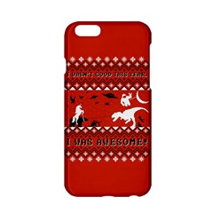 I Wasn t Good This Year, I Was Awesome! Ugly Holiday Christmas Red Background Apple iPhone 6/6S Hardshell Case