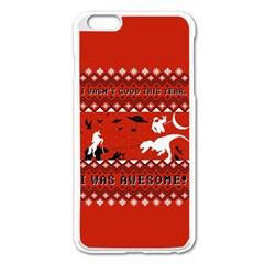 I Wasn t Good This Year, I Was Awesome! Ugly Holiday Christmas Red Background Apple iPhone 6 Plus/6S Plus Enamel White Case