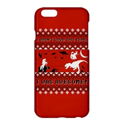I Wasn t Good This Year, I Was Awesome! Ugly Holiday Christmas Red Background Apple iPhone 6 Plus/6S Plus Hardshell Case