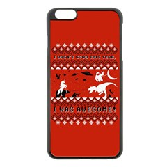 I Wasn t Good This Year, I Was Awesome! Ugly Holiday Christmas Red Background Apple iPhone 6 Plus/6S Plus Black Enamel Case