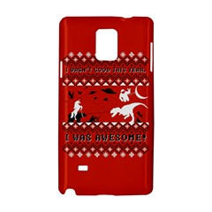 I Wasn t Good This Year, I Was Awesome! Ugly Holiday Christmas Red Background Samsung Galaxy Note 4 Hardshell Case