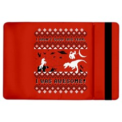 I Wasn t Good This Year, I Was Awesome! Ugly Holiday Christmas Red Background iPad Air 2 Flip