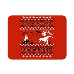 I Wasn t Good This Year, I Was Awesome! Ugly Holiday Christmas Red Background Double Sided Flano Blanket (Mini)