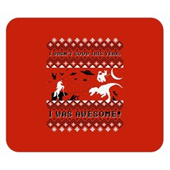 I Wasn t Good This Year, I Was Awesome! Ugly Holiday Christmas Red Background Double Sided Flano Blanket (Small)