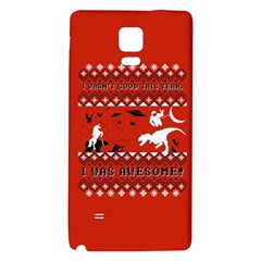 I Wasn t Good This Year, I Was Awesome! Ugly Holiday Christmas Red Background Galaxy Note 4 Back Case