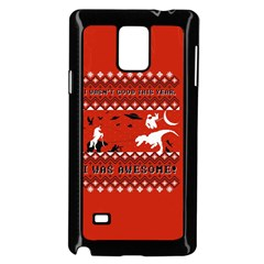 I Wasn t Good This Year, I Was Awesome! Ugly Holiday Christmas Red Background Samsung Galaxy Note 4 Case (Black)