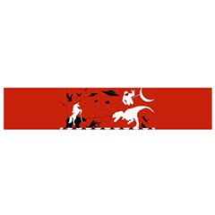 I Wasn t Good This Year, I Was Awesome! Ugly Holiday Christmas Red Background Flano Scarf (Small)