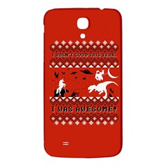 I Wasn t Good This Year, I Was Awesome! Ugly Holiday Christmas Red Background Samsung Galaxy Mega I9200 Hardshell Back Case