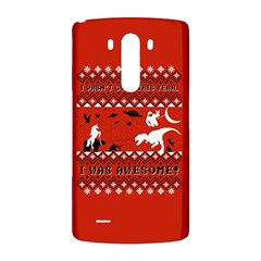 I Wasn t Good This Year, I Was Awesome! Ugly Holiday Christmas Red Background LG G3 Back Case