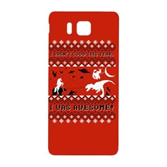 I Wasn t Good This Year, I Was Awesome! Ugly Holiday Christmas Red Background Samsung Galaxy Alpha Hardshell Back Case