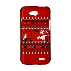 I Wasn t Good This Year, I Was Awesome! Ugly Holiday Christmas Red Background LG L90 D410