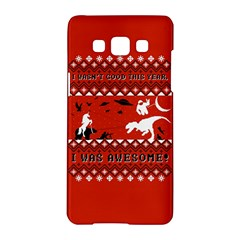 I Wasn t Good This Year, I Was Awesome! Ugly Holiday Christmas Red Background Samsung Galaxy A5 Hardshell Case