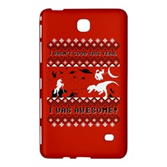I Wasn t Good This Year, I Was Awesome! Ugly Holiday Christmas Red Background Samsung Galaxy Tab 4 (7 ) Hardshell Case