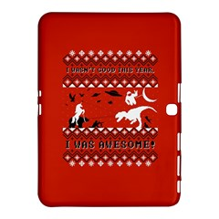 I Wasn t Good This Year, I Was Awesome! Ugly Holiday Christmas Red Background Samsung Galaxy Tab 4 (10.1 ) Hardshell Case