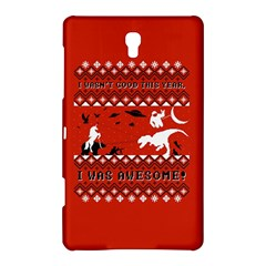 I Wasn t Good This Year, I Was Awesome! Ugly Holiday Christmas Red Background Samsung Galaxy Tab S (8.4 ) Hardshell Case