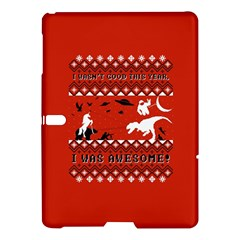 I Wasn t Good This Year, I Was Awesome! Ugly Holiday Christmas Red Background Samsung Galaxy Tab S (10 5 ) Hardshell Case