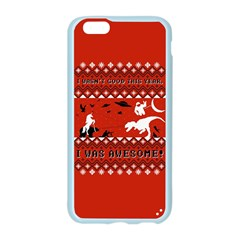 I Wasn t Good This Year, I Was Awesome! Ugly Holiday Christmas Red Background Apple Seamless iPhone 6/6S Case (Color)