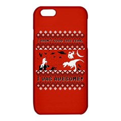 I Wasn t Good This Year, I Was Awesome! Ugly Holiday Christmas Red Background iPhone 6/6S TPU Case