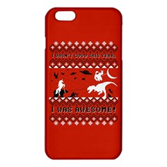 I Wasn t Good This Year, I Was Awesome! Ugly Holiday Christmas Red Background iPhone 6 Plus/6S Plus TPU Case