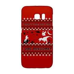 I Wasn t Good This Year, I Was Awesome! Ugly Holiday Christmas Red Background Galaxy S6 Edge