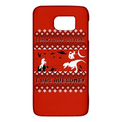 I Wasn t Good This Year, I Was Awesome! Ugly Holiday Christmas Red Background Galaxy S6
