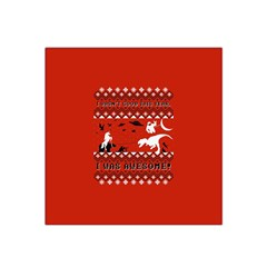 I Wasn t Good This Year, I Was Awesome! Ugly Holiday Christmas Red Background Satin Bandana Scarf