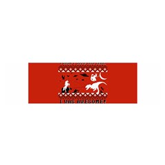 I Wasn t Good This Year, I Was Awesome! Ugly Holiday Christmas Red Background Satin Scarf (Oblong)