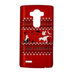 I Wasn t Good This Year, I Was Awesome! Ugly Holiday Christmas Red Background LG G4 Hardshell Case