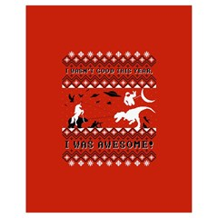 I Wasn t Good This Year, I Was Awesome! Ugly Holiday Christmas Red Background Drawstring Bag (Small)