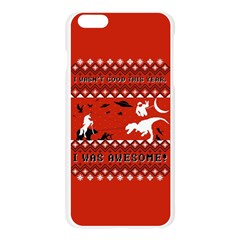 I Wasn t Good This Year, I Was Awesome! Ugly Holiday Christmas Red Background Apple Seamless iPhone 6 Plus/6S Plus Case (Transparent)