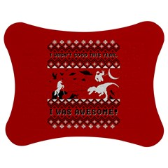 I Wasn t Good This Year, I Was Awesome! Ugly Holiday Christmas Red Background Jigsaw Puzzle Photo Stand (Bow)