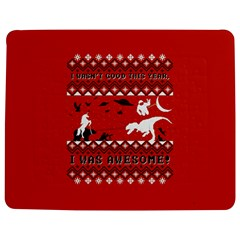 I Wasn t Good This Year, I Was Awesome! Ugly Holiday Christmas Red Background Jigsaw Puzzle Photo Stand (Rectangular)