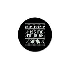 Kiss Me I m Irish Ugly Christmas Black Background Golf Ball Marker (4 pack)